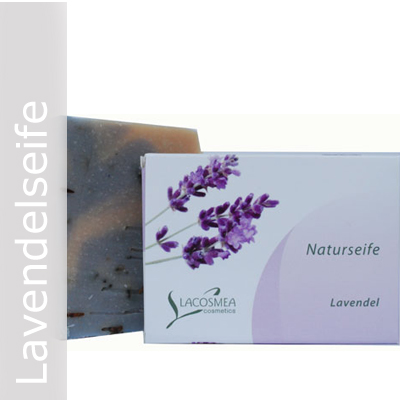 Lavendelseife mit Oliven-Mandelöl